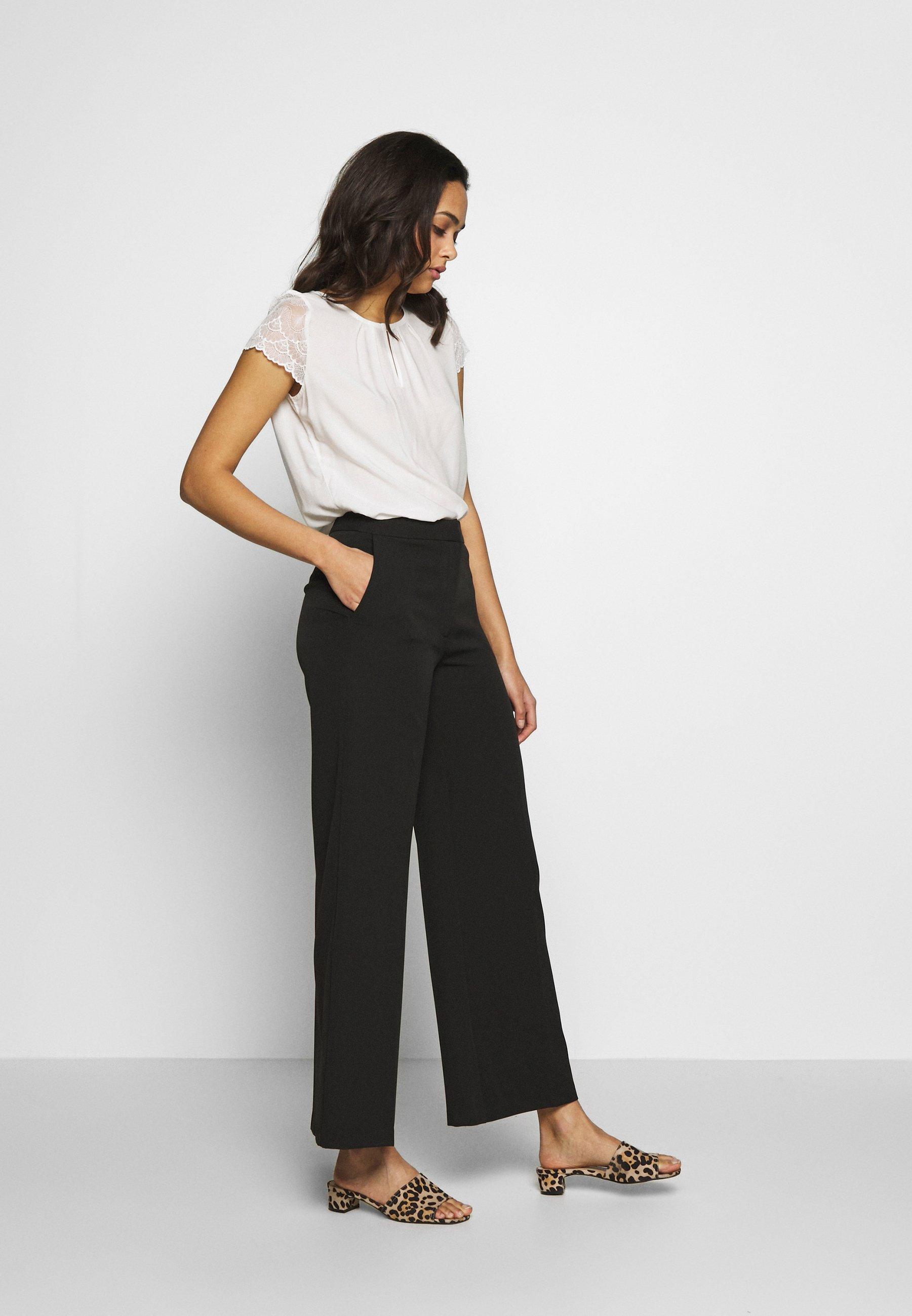 WIDE LEG TROUSER Pantalon classique black