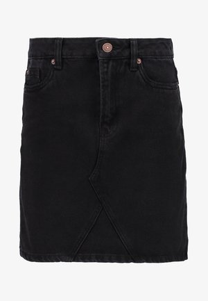 CUT OFF SKIRT  - Denim skirt - black