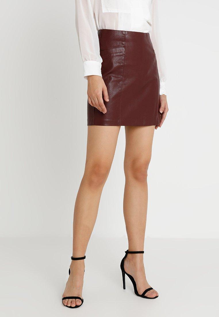 New Look - SKIRT - Minigonna - burgundy