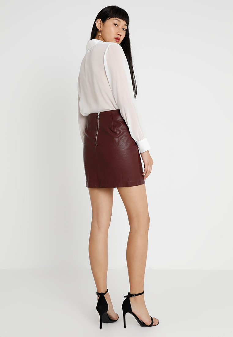New Look SKIRT - Minigonna burgundy