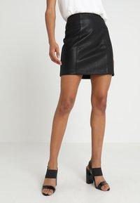 New Look - SKIRT - Minikjol - black - 0