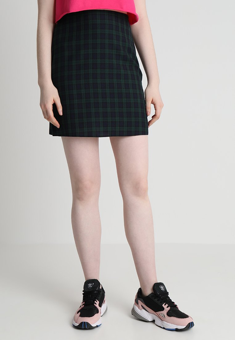 New Look - BABY BLACKWATCH MINI SKIRT - Spódnica mini - green