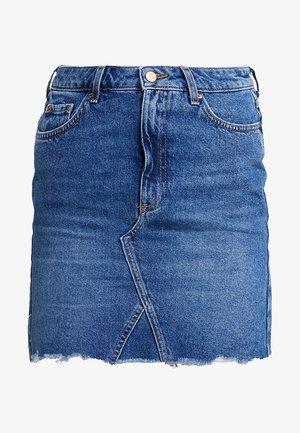 MOM SKIRT SKITTLES - Denimová sukně - mid blue