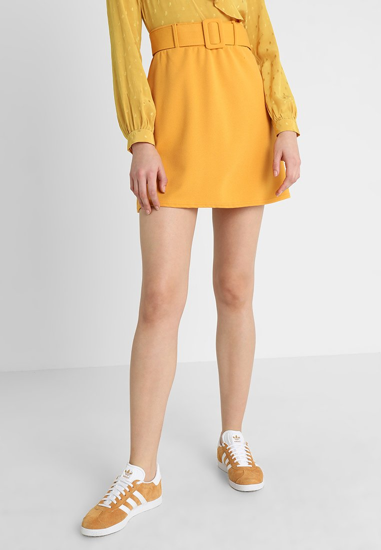 New Look - COVERED BUCKLE  - Jupe trapèze - corn yellow