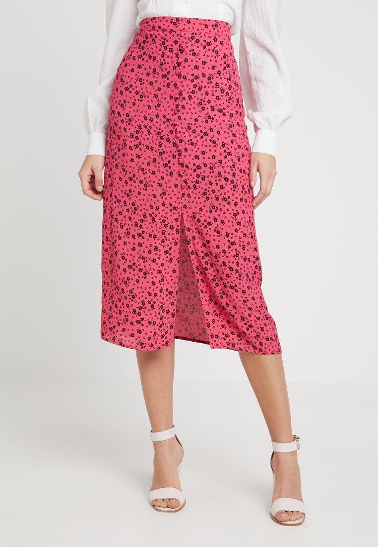 New Look - SCARLETT BUTTON THRU - A-Linien-Rock - bright pink