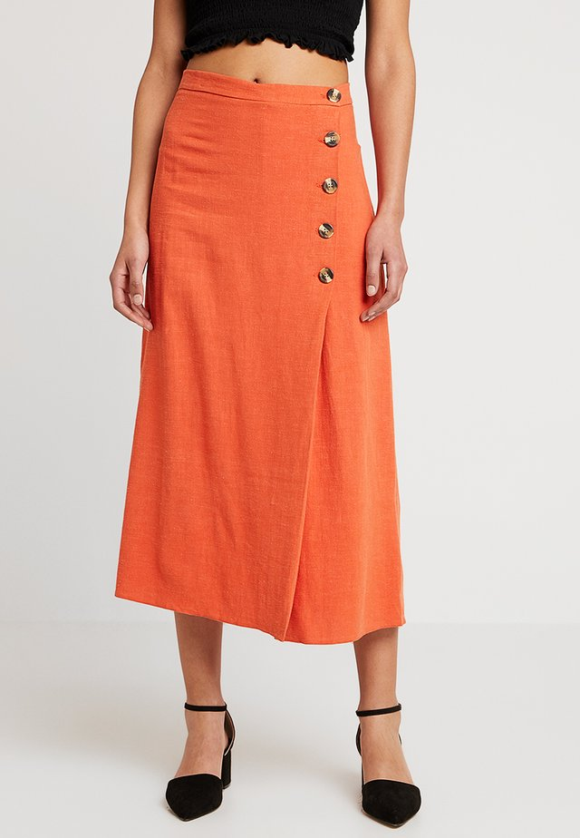 BERMUDA BUTTON SKIRT - A-lijn rok - orange