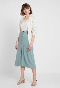 New Look - BERMUDA BUTTON SKIRT - A-line skirt - duck egg - 1