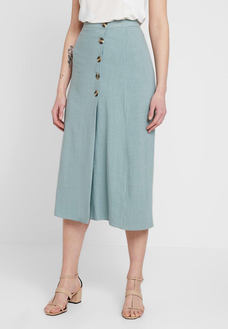 New Look - BERMUDA BUTTON SKIRT - A-line skirt - duck egg