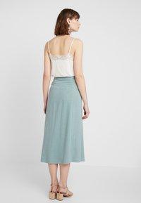 New Look - BERMUDA BUTTON SKIRT - A-line skirt - duck egg - 2