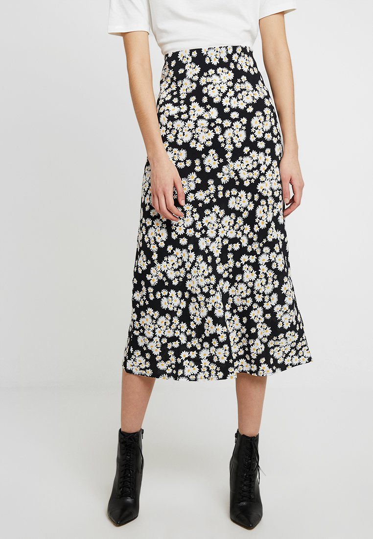 New Look - DAISY BIAS CUT MIDI SKIRT - Maxi skirt - black