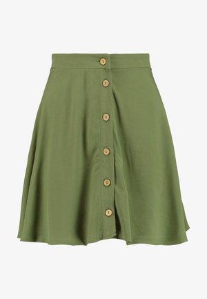 BUTTON FLIPPY - Áčková sukně - dark khaki