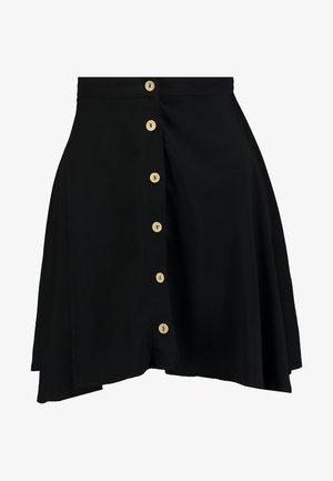 BUTTON FLIPPY - Áčková sukně - black