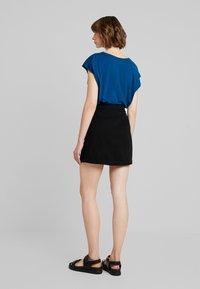 New Look - BUTTON THRU A LINE SKIRT  - Spódnica trapezowa - black - 2