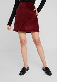 New Look - WELT SKIRT - Pencil skirt - burgundy - 0