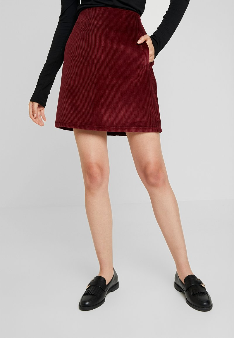 New Look - WELT SKIRT - Pencil skirt - burgundy