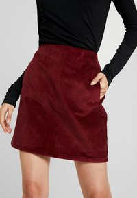 New Look - WELT SKIRT - Pencil skirt - burgundy - 4