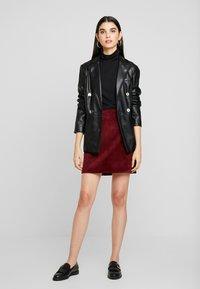 New Look - WELT SKIRT - Pencil skirt - burgundy - 1