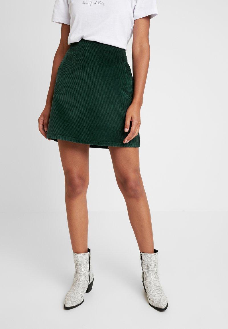 New Look - WELT SKIRT - Bleistiftrock - dark green
