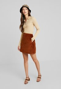 New Look - WELT SKIRT - Gonna a tubino - chocolate - 1