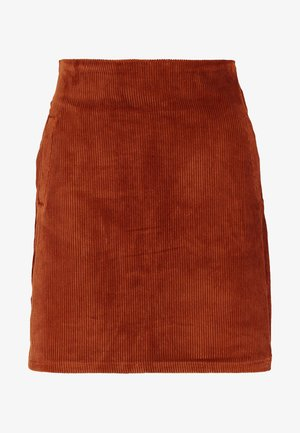 WELT SKIRT - Pencil skirt - chocolate