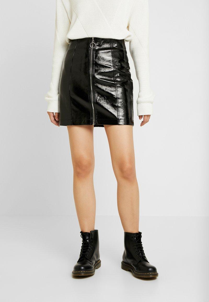 New Look - ZIP THROUGH MINI - Minisukně - black