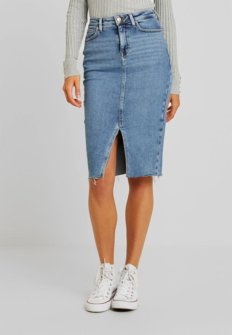 New Look - PENCIL SKIRT STARFRUIT - Blyantnederdel / pencil skirts - mid blue