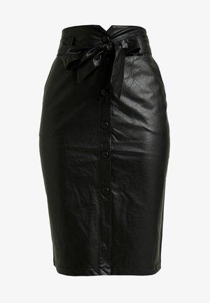 PAPERBAG PENCIL - Spódnica ołówkowa  - black