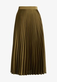 New Look - PLEATED MIDI - A-line skjørt - dark khaki - 4