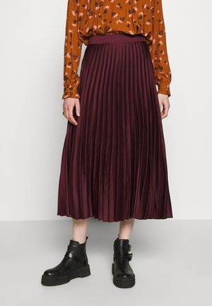 PLEATEDMIDI - A-lijn rok - light burgundy