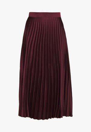 PLEATEDMIDI - A-line skjørt - light burgundy