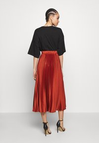 New Look - PLEATEDMIDI - A-line skirt - rust - 2