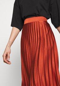 New Look - PLEATEDMIDI - A-line skirt - rust - 4