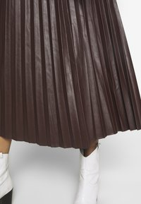 New Look - PLEATED MIDI - A-Linien-Rock - dark burgundy - 4