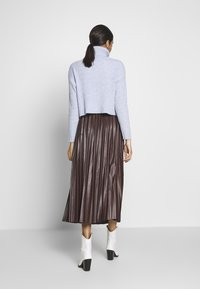 New Look - PLEATED MIDI - A-lijn rok - dark burgundy - 2