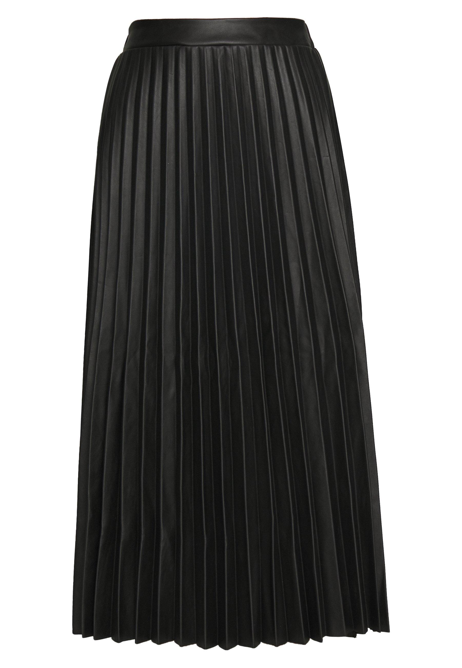 New Look PLEATED MIDI - Spódnica trapezowa - black