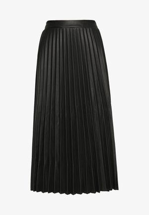 PLEATED MIDI - A-line skjørt - black