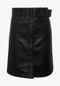 New Look - COVERED BUCKLE BUTTON  - Minijupe - black - 4