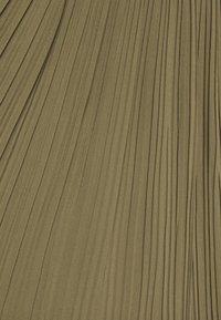 New Look - PLEATED - Jupe trapèze - khaki - 4