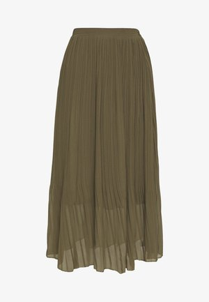 PLEATED - A-snit nederdel/ A-formede nederdele - khaki