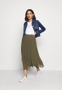 New Look - PLEATED - Jupe trapèze - khaki - 1