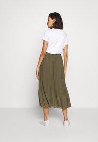 New Look - PLEATED - Jupe trapèze - khaki - 2