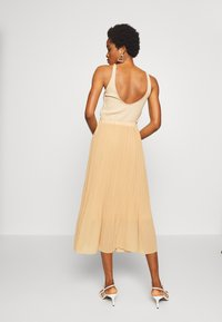 New Look - PLEATED - A-line skirt - beige - 2