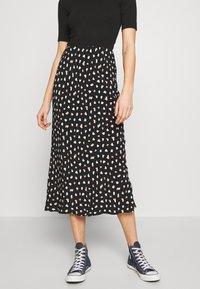 New Look - NELLY SPOT SKIRT - A-line skirt - black - 0