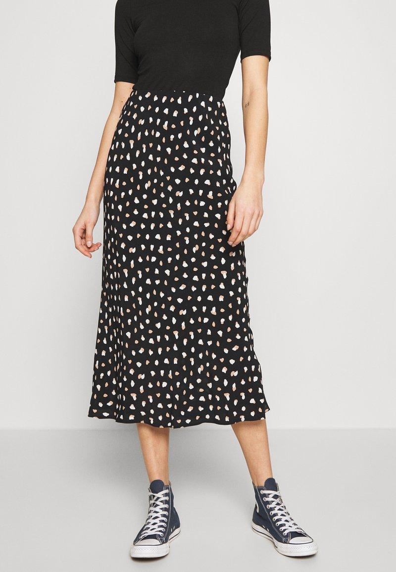 New Look - NELLY SPOT SKIRT - A-line skirt - black