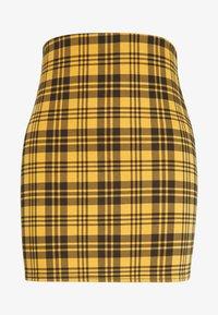 New Look - AMARI CHECK TUBE - Mini skirt - yellow - 3