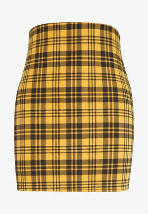 AMARI CHECK TUBE - Minifalda - yellow