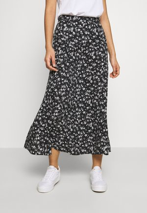 FREYA FLORAL BELTED CIRCLE SKIRT - A-line skjørt - black pattern