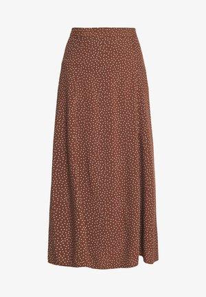MARIA SPOT CIRCLE SKIRT - Spódnica trapezowa - brown