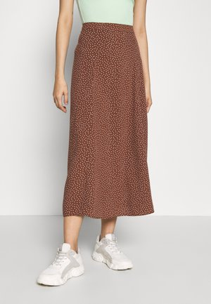 MARIA SPOT CIRCLE SKIRT - A-lijn rok - brown