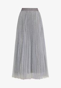New Look - GLITTER PLEATED OVERLAY SKIRT - A-linjainen hame - mid grey - 4